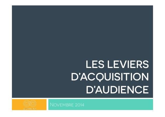 LES LEVIERS  D'ACQUISITION  D'AUDIENCE  Novembre 2014