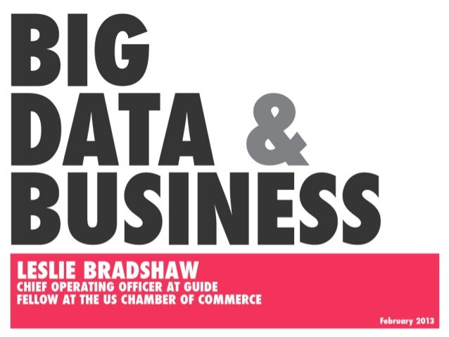 A Primer on Big Data for Business