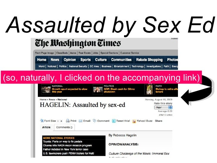 How is sex ed immoral