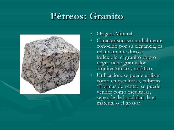 Ficha de materiales for Granito caracteristicas