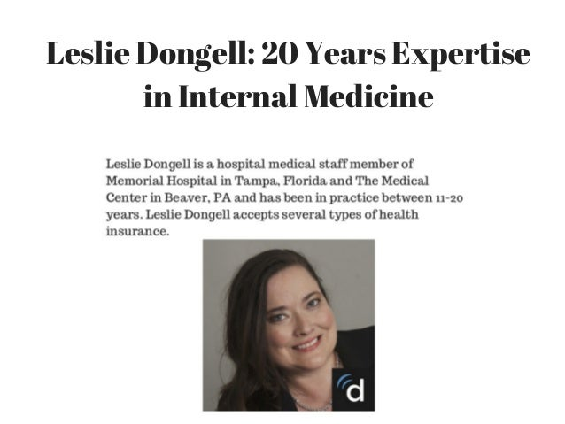 Leslie Dongell: 20 Years Expertise in Internal Medicine