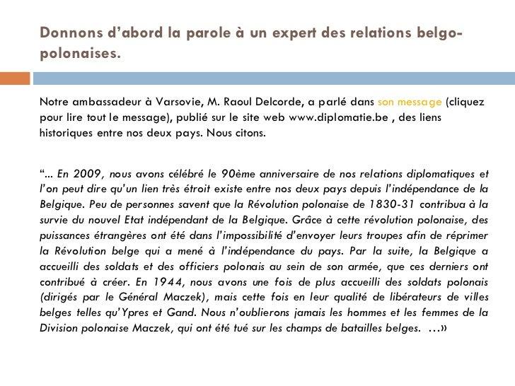 Les liens entre la pologne et la belgique  (version définitive) Slide 2