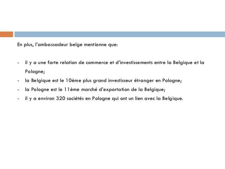 Les liens entre la pologne et la belgique  (version définitive) Slide 3