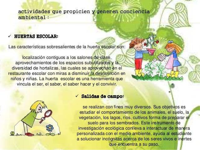 Proyecto escolar ambiental for Proyecto restaurante escolar