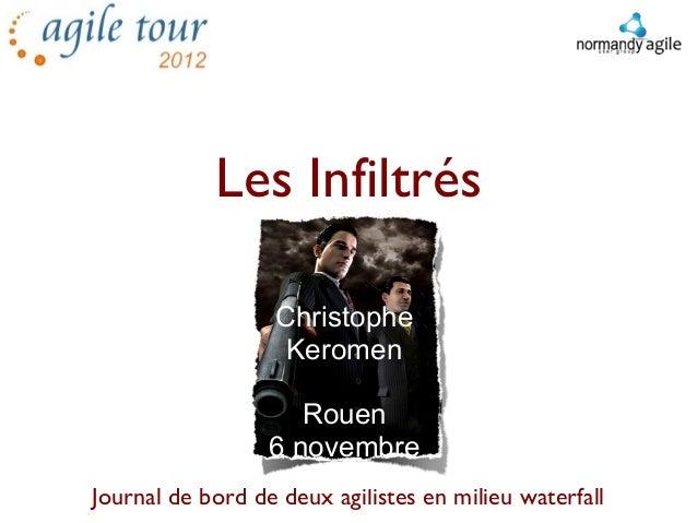 Les Infiltrés                  Christophe                   Keromen                     Rouen                  6 novembre ...