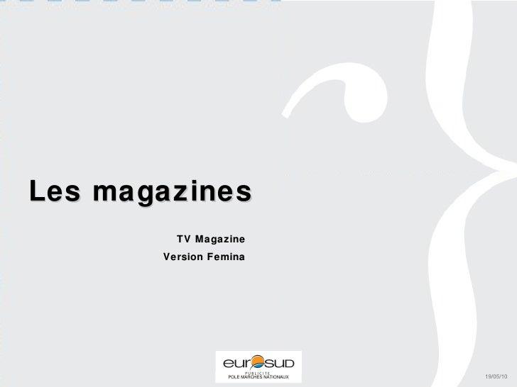 Les magazines TV Magazine Version Femina