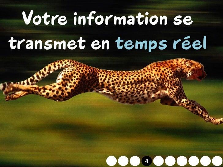 Votre information se transmet en temps réel                 2   4