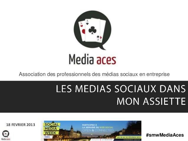 Association des professionnels des médias sociaux en entreprise18 FEVRIER 2013                                            ...