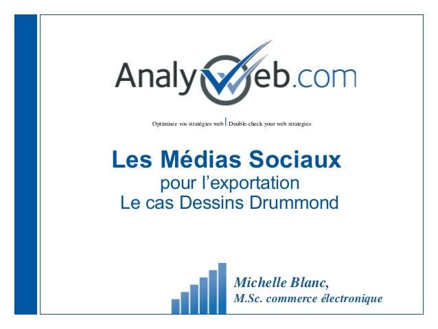 |  Optimisez vos stratégies web Double-check your web strategies  Les Médias Sociaux pour l'exportation Le cas Dessins Dru...