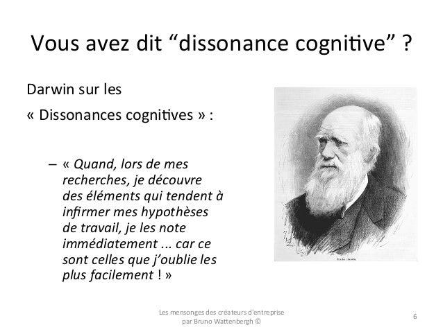 """Vous  avez  dit  """"dissonance  cogniOve""""  ?   Darwin  sur  les     «  Dissonances  cogniOves  » ..."""