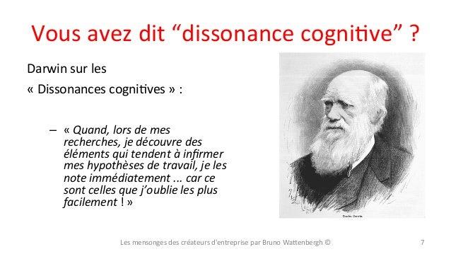 """Vous  avez  dit  """"dissonance  cogniXve""""  ?   Darwin  sur  les     «  Dissonances  cogniXves  » ..."""