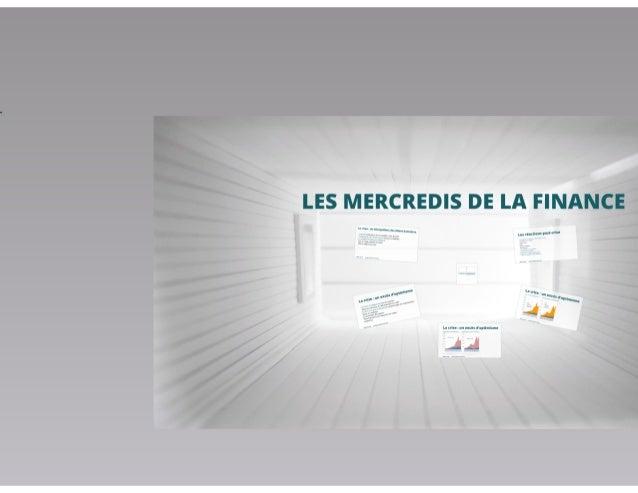 Conférence - Les mercredis de la finance - Mai 2013