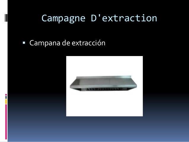 Campagne D'extraction  Campana de extracción