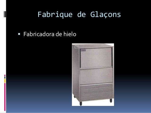 Fabrique de Glaçons  Fabricadora de hielo