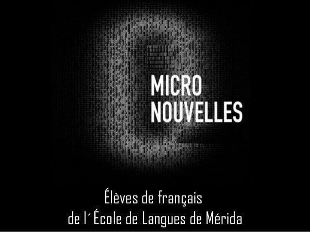 Élèves de français de l´École de Langues de Mérida
