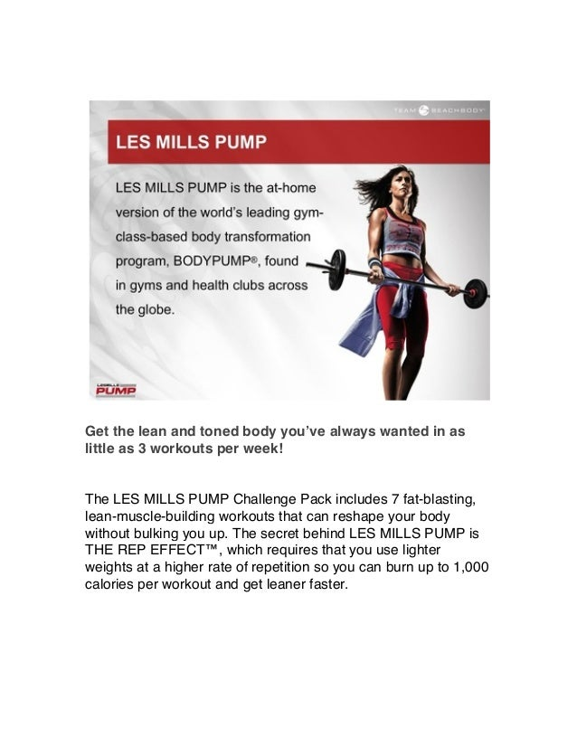 Get the lean and toned body you've always wanted in as little as 3 workouts per week! The LES MILLS PUMP Challenge Pack in...