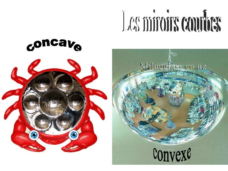 Miroirs courbes concaves for Miroir convexe concave