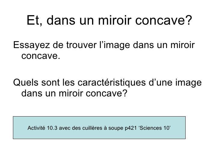 Les miroirs courbes for Miroir concave convexe