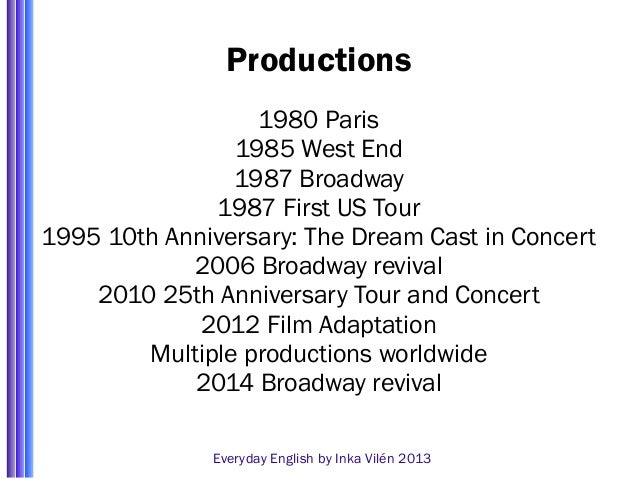 les miserables 25th anniversary everyday