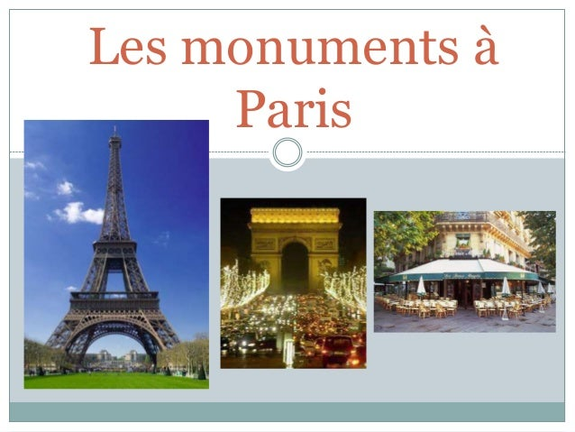 Les monuments à Paris