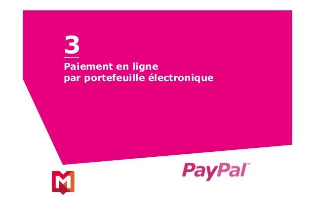 Paiement en ligne par portefeuille électronique