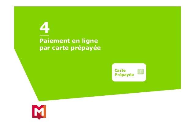 Paiement en ligne par carte prépayée Carte Prépayée