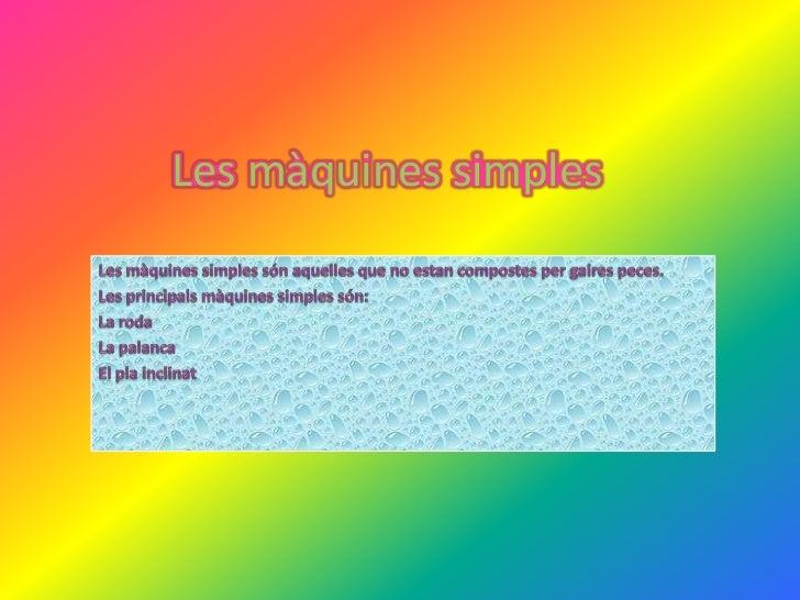 Les màquines simples