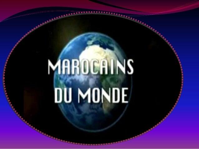 LE PLAN L'IMMIGRATION ET LES MAROCAINS. - la % des marocains a l'étranger. - les circonstances qui leur poussent a immigre...