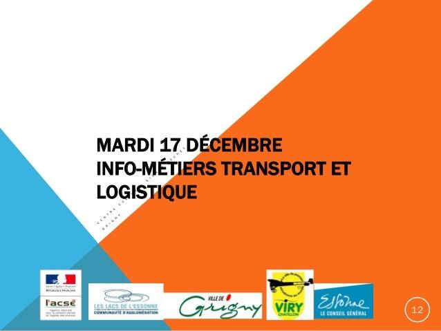 Les m tiers du transport et de la logistique for Salon transport et logistique