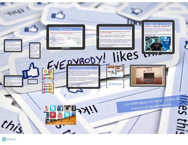 Les métriques en ligne et les réseaux / médias sociaux