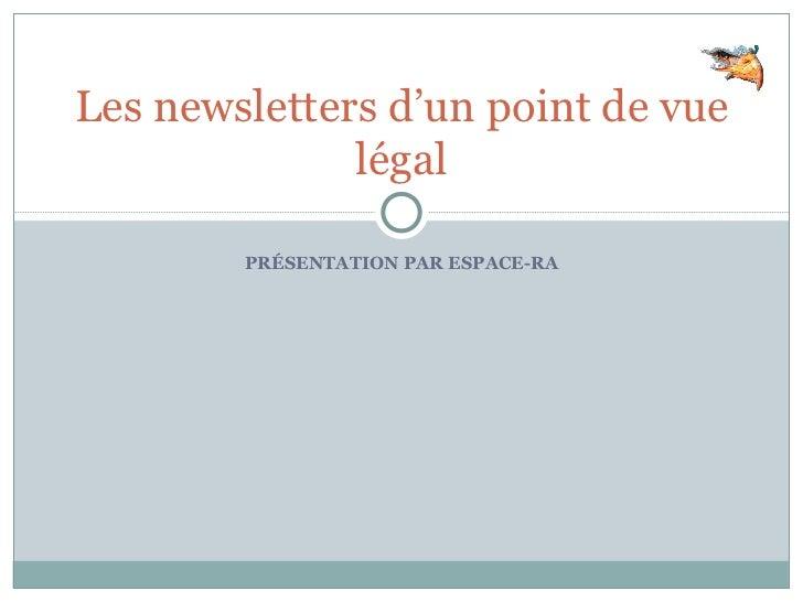 Les newsletters d'un point de vue légal