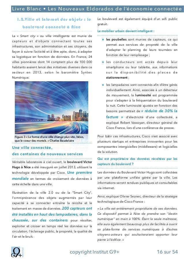 ;  Livre Blanc • Les Nouveaux Eldorados de l'économie connectée 1.2.Ville et Internet des objets : le boulevard connecté à...