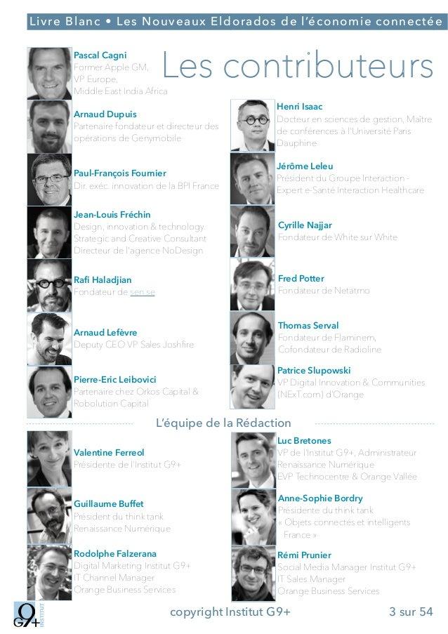;  Livre Blanc • Les Nouveaux Eldorados de l'économie connectée  !  Les contributeurs  Pascal Cagni Former Apple GM, VP Eu...