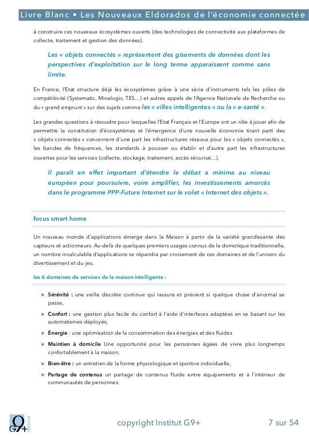 ;  Livre Blanc • Les Nouveaux Eldorados de l'économie connectée à construire ces nouveaux écosystèmes ouverts (des technol...