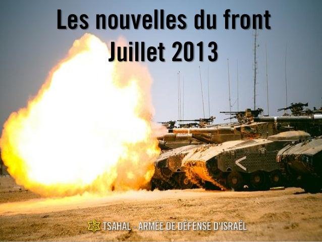 Les nouvelles du front Juillet 2013