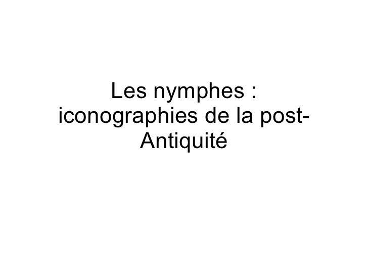 Les nymphes : iconographies de la post-Antiquité