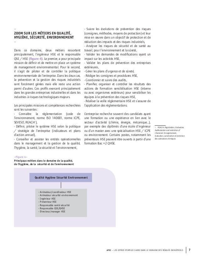 Offre d emploi ingenieur environnement et risques industriels