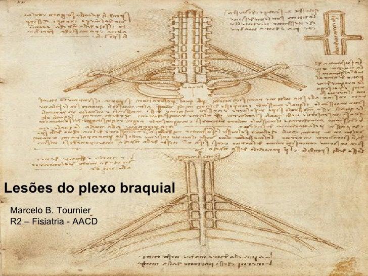 Lesões do plexo braquial Marcelo B. Tournier R2 – Fisiatria - AACD