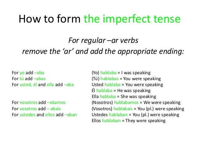Leso the spanish preterite and imperfect tenses