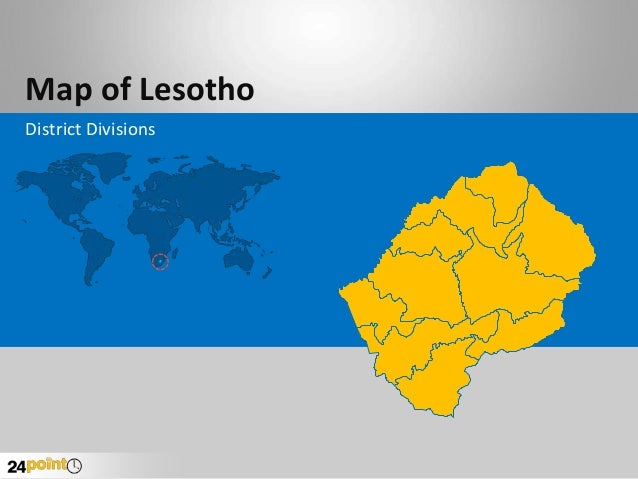 Map of Lesotho District Divisions