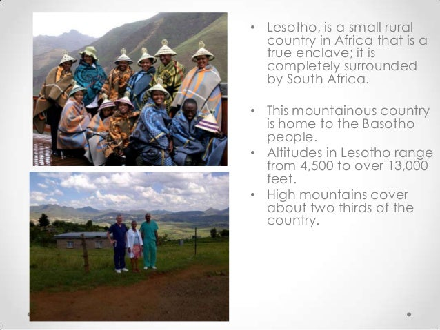 Lesotho assesment of the national health system 4 the capital city maseru sciox Images