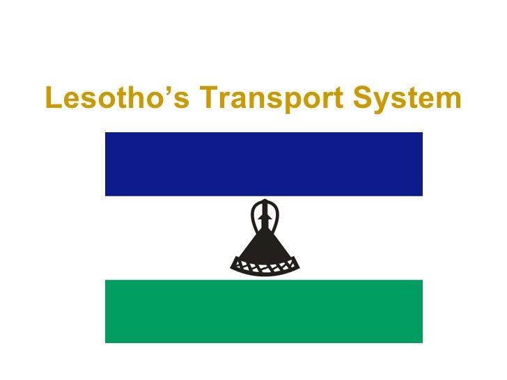 Lesotho's Transport System