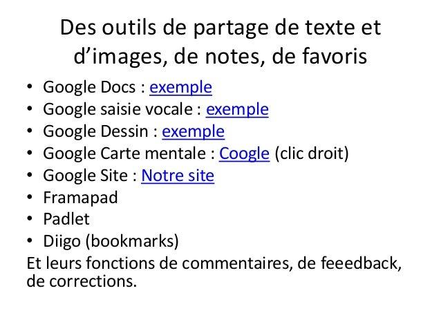 Les outils de partage de notes Slide 2
