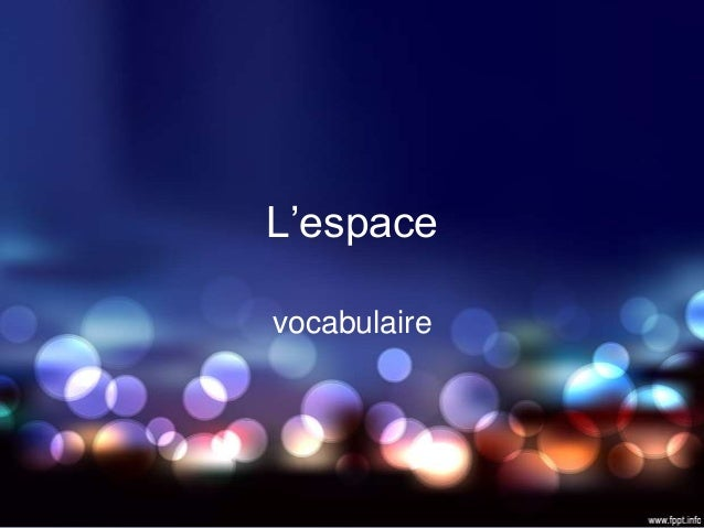 L'espacevocabulaire