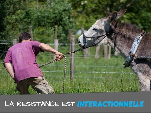 LA RESISTANCE EST INTERACTIONNELLEINTERACTIONNELLE