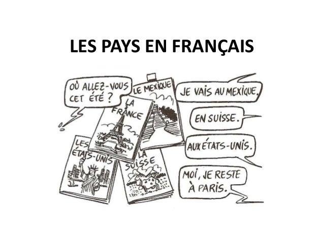 LES PAYS EN FRANÇAIS