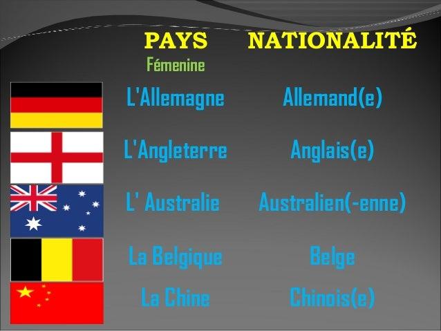 les pays et les nationalit u00e9s