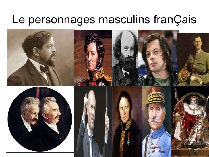 Le personnages masculins franÇais