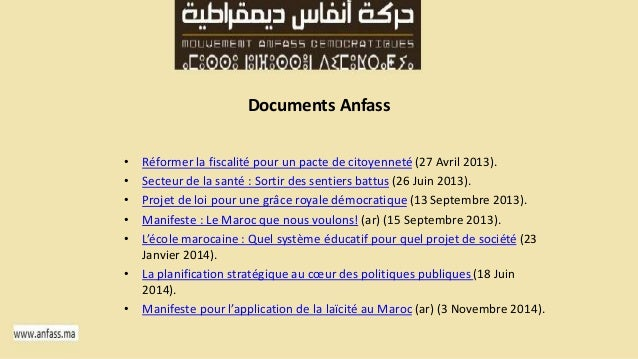 Documents Anfass  • Réformer la fiscalité pour un pacte de citoyenneté (27 Avril 2013).  • Secteur de la santé : Sortir de...