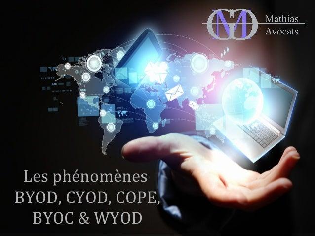Les phénomènes  BYOD, CYOD, COPE,  BYOC & WYOD